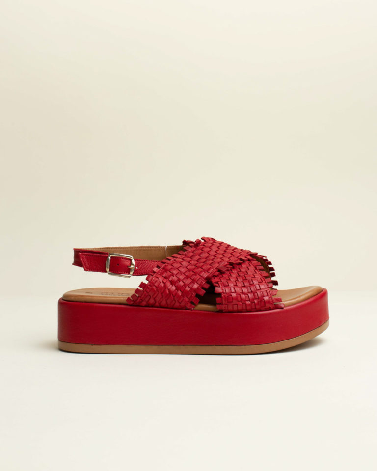 Sandalia Trenzada Carmela - Rojo