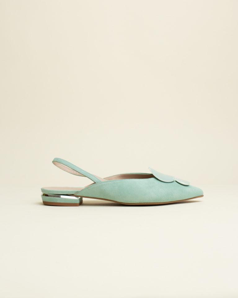 Zapato Destalonado Dibia - Azul Agua