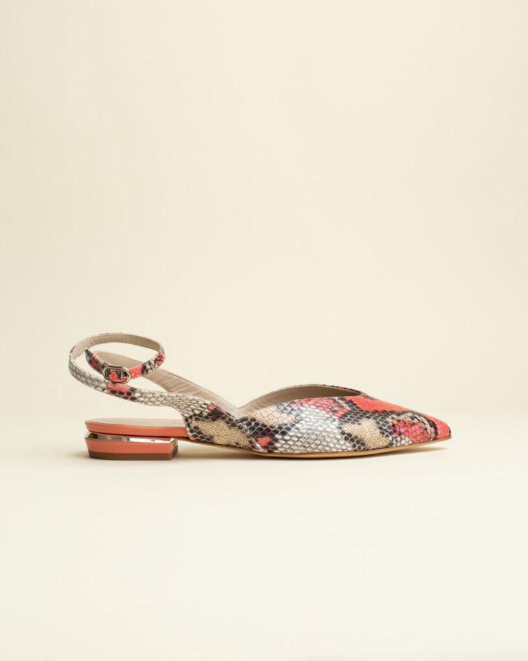 Zapato Destalonado Dibia - Serpiente Coral