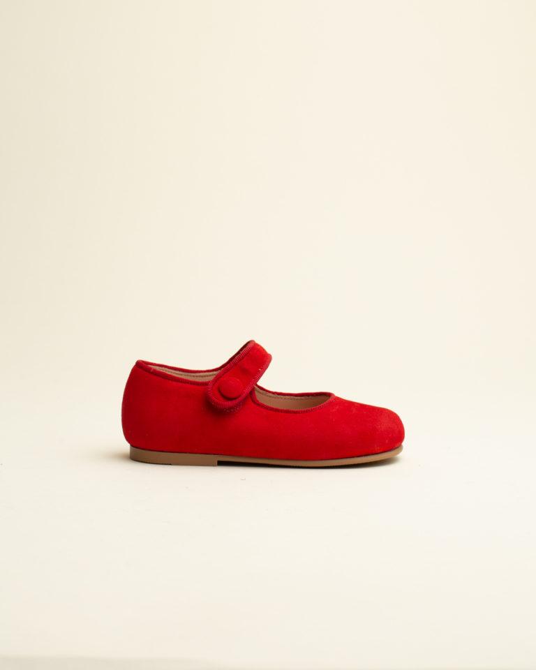 Zapato Merceditas Botón Ruths - Rojo